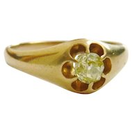 Victorian 18ct Gold Yellow Diamond Buttercup Ring