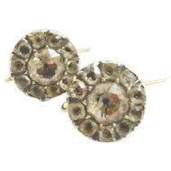 Victorian Black Dot Paste Cluster Earrings