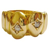 Victorian 18ct Gold Double Snake Diamond Ring