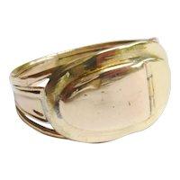 Georgian 12ct Bicolour Gold Locket Ring