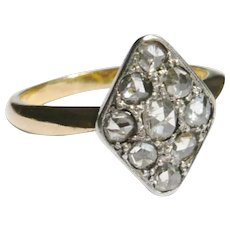 Edwardian 18ct Gold Rose Diamond Kite Ring