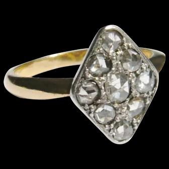 Edwardian 18ct Gold Rose Diamond Kite Ring