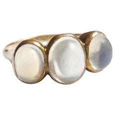 Edwardian Moonstone Trilogy Ring
