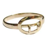 Vintage 14kt Gold Petite Buckle Ring