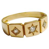 Victorian 18ct Gold Diamond Star Ring