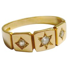 Victorian 18ct Gold Diamond Star Ring