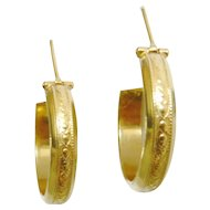 Vintage 18kt Gold Hoop Earrings
