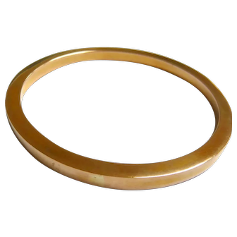 Art Deco 9ct Gold Plain Bangle