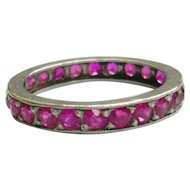 Art Deco Pink Sapphire Eternity Ring