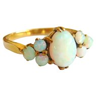 Vintage 9ct Gold Opal Cluster Ring