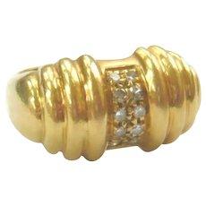 Vintage 1940s Diamond Tank Pinky Ring
