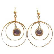 Art Deco 9ct Gold Circle Earrings