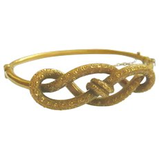Late Victorian 9ct Gold Knot Bracelet