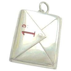 Edwardian Silver Double Sided Enamel Stamp Envelope