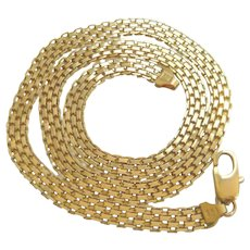 Vintage 9ct Gold Slinky Chainmail Necklace