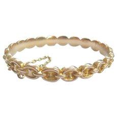 Edwardian 9ct Gold Chain Link Design Bangle