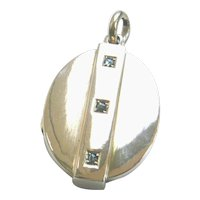 Victorian Large 9ct Gold Rose Diamond Locket
