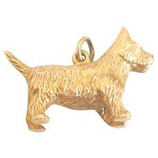 Vintage 9ct Gold Large Scottie Dog Charm Pendant
