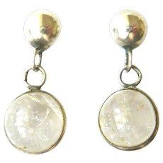 Victorian Silver Pool of Light Drop Earrings