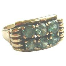 Vintage 1940s Green Spinel Cocktail Ring
