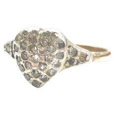 Vintage Pavé Diamond Heart Ring