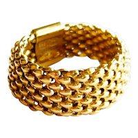 Vintage 14kt Gold Popcorn Chain Link Ring
