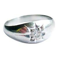 Vintage Platinum Diamond Star Set Ring