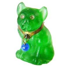 Art Deco Czech Glass Dog Charm