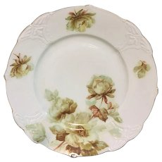 "German porcelain plate with rose design ""Clarion"""