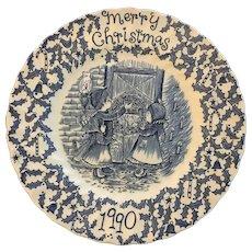 Royal Crownford 1990 Christmas plate