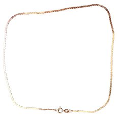 14 KT gold Serpentine chain 15 inches