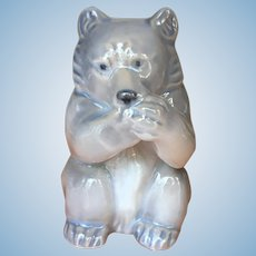 Vintage Royal Copenhagen eating bear #3014