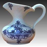 Blue and white creamer from Holland