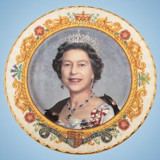 Queen Elizabeth plate commemorating her 50th year of reigning.
