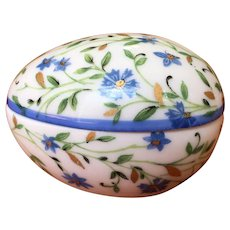 Limoges Hand Painted Egg Box