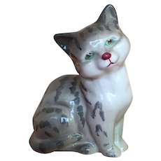 Royal Doulton Grey Tabby with green eyes