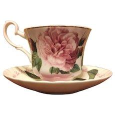 """Roy Kirkham """"Aurelianensis La Duchesse d'Orleans rosa Gallica"""" teacup"""