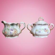 Vintage Leuchtenburg Germany porcelain creamer and sugar set