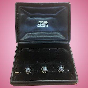Vintage Tiffany & Co Shlumberger 3 acorn studs