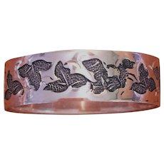 Victorian 10 kt rose gold hand engraved band