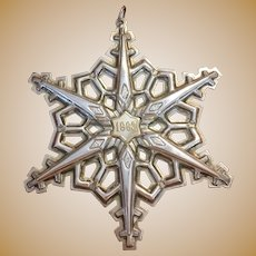 VIntage Gorham 1983 Sterling silver star with gold plated center