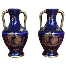Vintage pair of Limoges miniature vases