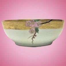 Antique Art Nouveau T & V Limoges apple blossom bowl