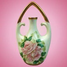 Antique hand painted Bavarian vase