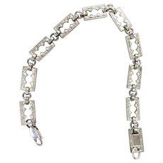 Vintage link 7 inch sterling silver bracelet
