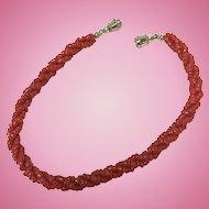 Vintage triple strand natural red coral bracelet  8 inch bracelet