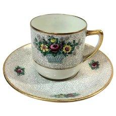 Antique Limoges demitasse cup and saucer C. Ahrenfeldt