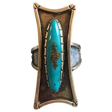 Vintage Turquoise sterling silver native american ring