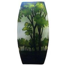 Vintage  Cameo glass vase