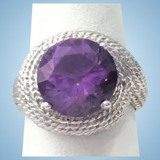 Custom Sterling silver and Amethyst ring